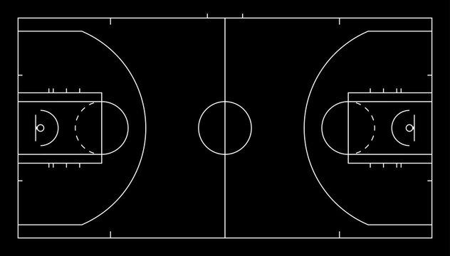 Basketball court. Sport background.