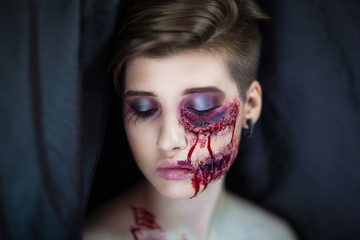 bloody wounds cuts Halloween
