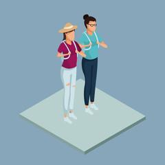 Womens friends 3d icon vector illustration graphic design