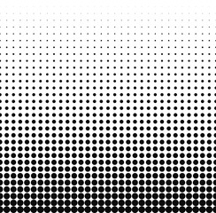 Gradient halftone dots background. Pop. Red texture. Vector illustration