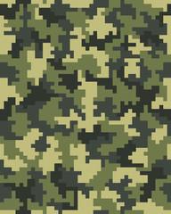 Seamless of digital camouflage of fashion pattern