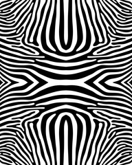 Seamless zebra pattern in black and white, vector