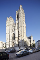 Cathedrale St. Michel et Gudule In Brussels