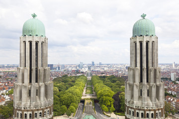 View To The Center Of Brussels, Belgium
