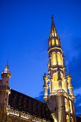 Hotel De Ville In Brussels At Night