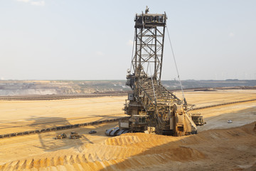 Giant Bucket-Wheel Excavator In Mine