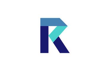 R Blue Ribbon Letter Logo