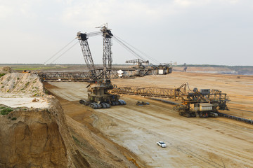 Giant Bucket-Wheel Excavator At Work