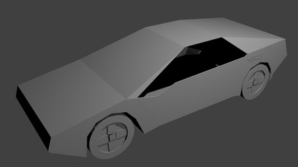 A 3D model of red sport car concept