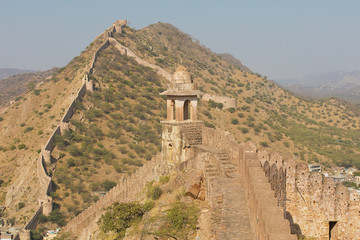 Great Wall in India in Rajasthan