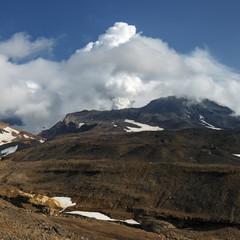 Scenery volcanic landscape: Mutnovskaya Sopka on Kamchatka Peninsula