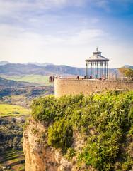 Gazebo park in Ronda Spain