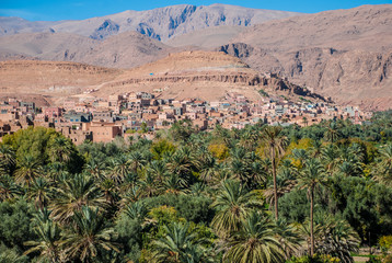 Tinerhir town in Morocco