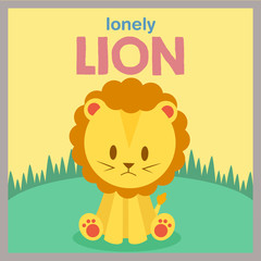 Lion character illustration vector
