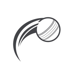 Swoosh Cricket ball Logo Icon