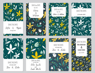 Vector Set of card templates