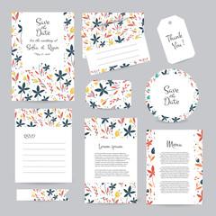 Vector gentle wedding cards template