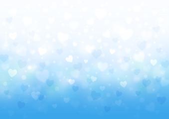 淡い色のハートの背景