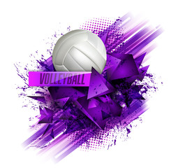 volleyball ball background text