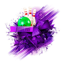 Sample text. bowling ball abstract background