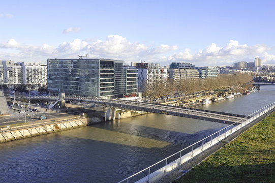 View of a district of Boulogne Billancourt