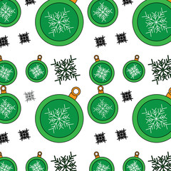 christmas balls snowflake decoration ornament pattern