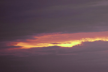orange the evening clouds dark and the last light