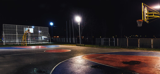 Basketball Yard by Night