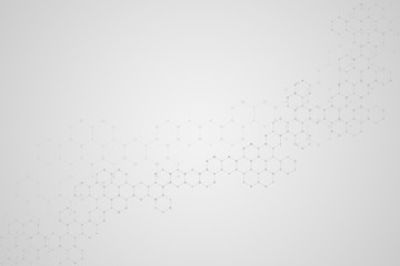 Abstract hexagonal background. Medical, scientific or technological concept. Geometric polygonal graphics. Illustration.