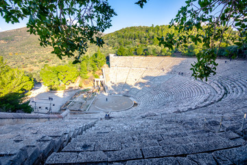 Wall Mural - The ancient theater of Epidaurus (or