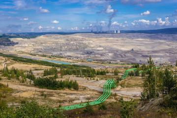 Coal mine in Turow village near Bogatynia town, Poland