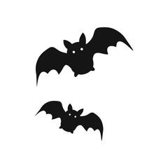 Bat icon. Halloween sign. Vector Illustration