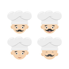 Set of funny cooks
