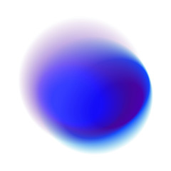 Purple gradient hole isolated on white background. Blue radial stain with round peacock colored texture. Turquoise blurred vector pattern.