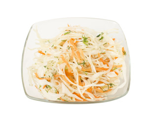 Healthy salad with carrot and cabbage.