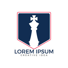 Chess club logo. Logo design for a chess companies or a chess player.