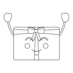 kawaii christmas gift box ornament with bow