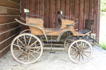 Antique wood carriage