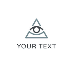 All seeing eye symbol, modern logo concept. Flat icon.