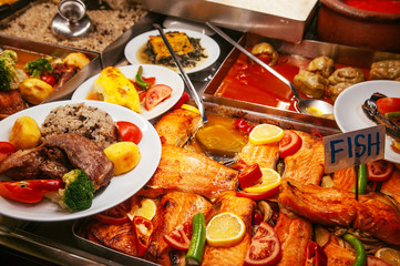 Freshly prepared delicious Mediterranean and TUrkish food