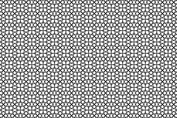 Simple circular background - black and white - vector circle pattern