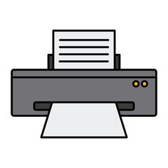 Computer printer device icon vector illustration graphic design