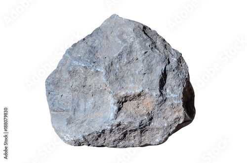 Big Granite Rock Stone Isolated On White Background Rock