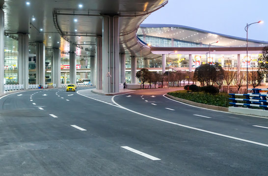 Highway at the airport in Chongqing, China