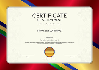 Luxury Certificate Template With Elegant Border Frame Diploma - Electronic stock certificate template