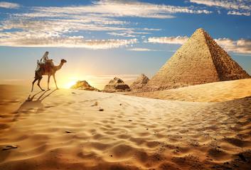 Deurstickers Egypte Sunset in desert
