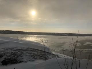 Paesaggio invernale canadese, Québec, Canada