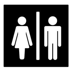 ikona mężczyzny i kobiety - WC