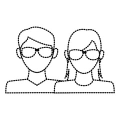 Avatar couple symbol icon vector illustration graphic design