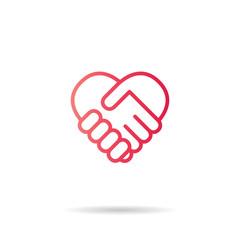 Heart Red Icon line Vector , Love Symbol Valentine's Day